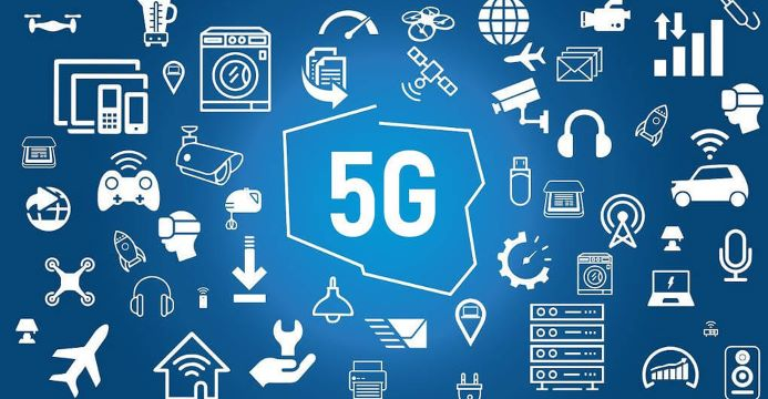 5g infographic with icons of all of the data services that will be effected