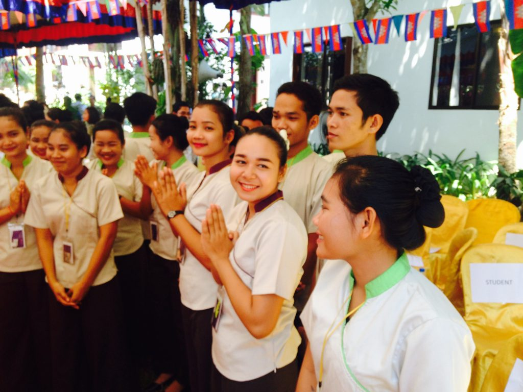 Cambodian students at Siem Reap's Sala Bai Hotel School.