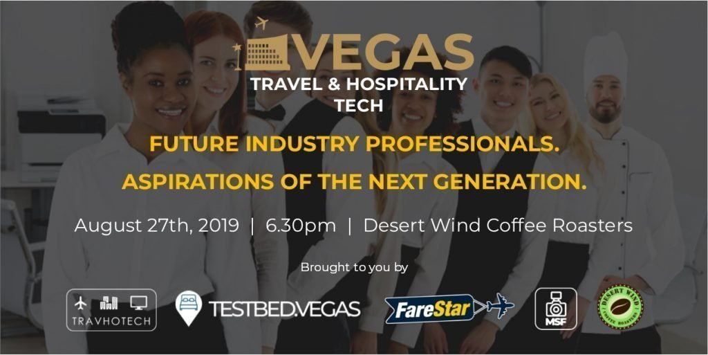 Vegas Travel & Hospitality Tech Future Industry Professionals event flyer