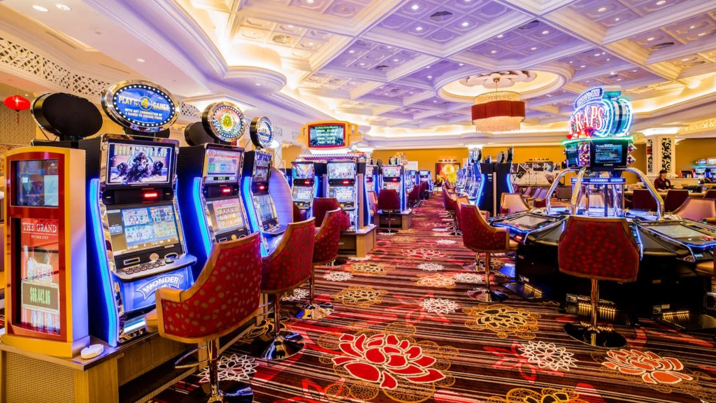 Casino slot machines and tables